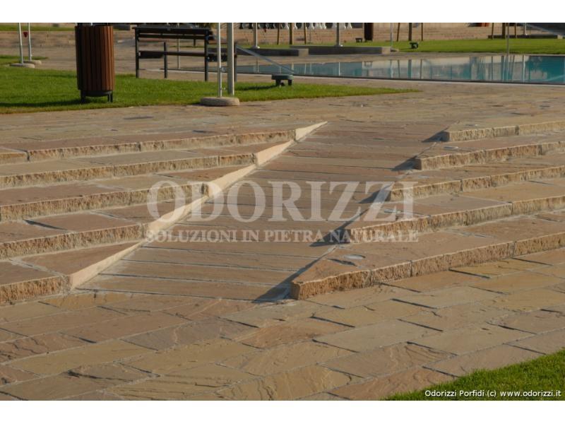 Piastrelle segate quarzo arenaria