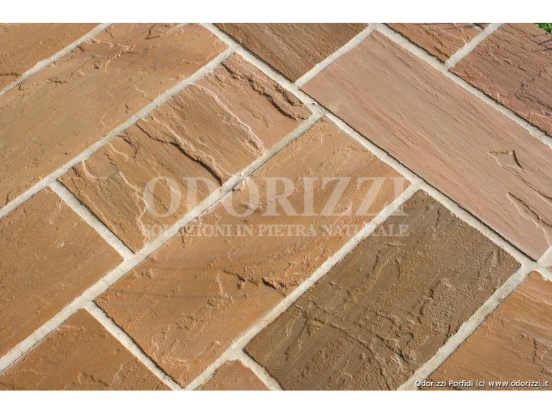 Piastrelle tranciate quarzo arenaria - Posa piastrelle 30x60 a correre ...